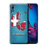 Stuff4® Hülle/Case für Huawei P20/Denmark/Dänemark Muster/Flagge Land Kollektion