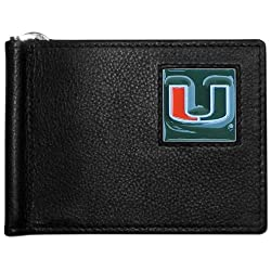 NCAA Miami Hurricanes Leather Bill Clip Wallet
