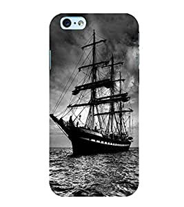 Fuson Premium Back Case Cover Boats in water With Multi Background Degined For Apple iPhone 6