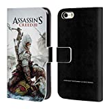 Head Case Designs Ufficiale Assassin's Creed Connor Ascia III Arte Chiave Cover a Portafoglio in Pelle per iPhone 5 iPhone 5s iPhone SE