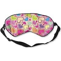 Comfortable Sleep Eyes Masks Heart Colorful Pattern Sleeping Mask For Travelling, Night Noon Nap, Mediation Or... preisvergleich bei billige-tabletten.eu
