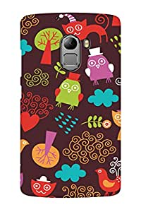 AMAN Cartoon Pattern 3D Back Cover for Lenovo K4 Note
