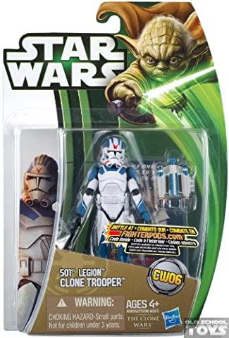 501st Legion Clone Trooper in Phase II Armor CW06 - Star Wars The Clone Wars von Hasbro