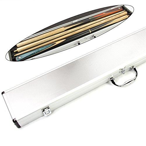 2Queue Aluminium Pool Snooker Queue Koffer für Mitte Gelenk Queues-fasst 2Queues