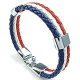 Adisaer Edelstahl Armband Herren Drei Kette Weben Armreifen Weiß Blau Rot Für Männer Lange 20.32CM Armbänder Gothic