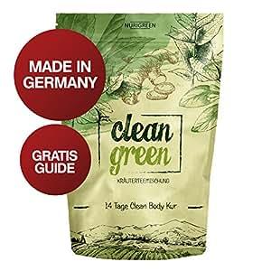 Nurigreen Clean Green Detox Tee Kur – 100% natürliche Kräuterteemischung – Grüner Tee, Brennnessel, Ingwer & Gojibeeren