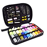 #4: BESTONZONSewing Kit Bundle with Scissors Thread Needles Tape Measure Carrying Case and Accessories for Domestic Travel