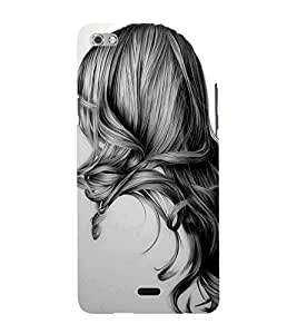 Girl with Gorgeous Hair 3D Hard Polycarbonate Designer Back Case Cover for Micromax Canvas Sliver 5 Q450