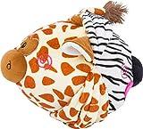 Small Foot- Palla di Peluche Zebra e Giraffa, 10524