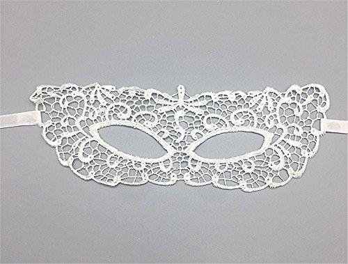 Weihnachten Maskerade Party Prinzessin Zorro Lace Cutout Maske Schwarz Augenmaske Weiblich, weiß