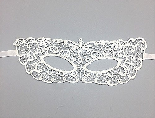 e Party Prinzessin Zorro Lace Cutout Maske Schwarz Augenmaske Weiblich, weiß ()