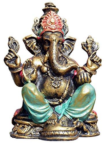 Unbekannt Schöner Ganesha Bunt Elefantengott Gold Resin Elefant Buddhismus Bali Res20