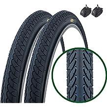 Fincci -  Par de neumáticos de bicicleta para montaña y carretera, cubiertas 26 x 1,95 54-559, presta tubos interiores