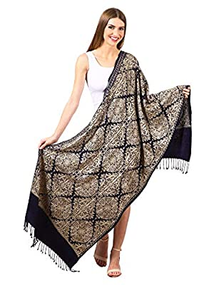 Pashtush Women's Rayon Embroidered, Scarfs, Shawls, Stoles, Wraps (size 28 x 80 inches)