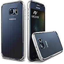 URCOVER Funda Samsung Galaxy S6 | Carcasa Protectora Transparente + Bumper Aluminio Antichoque en Plata