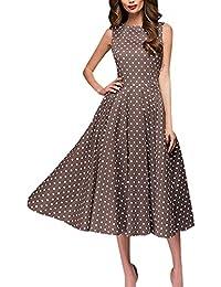 online store 9f1b1 9d0a9 Amazon.it: vestito a pois: Abbigliamento