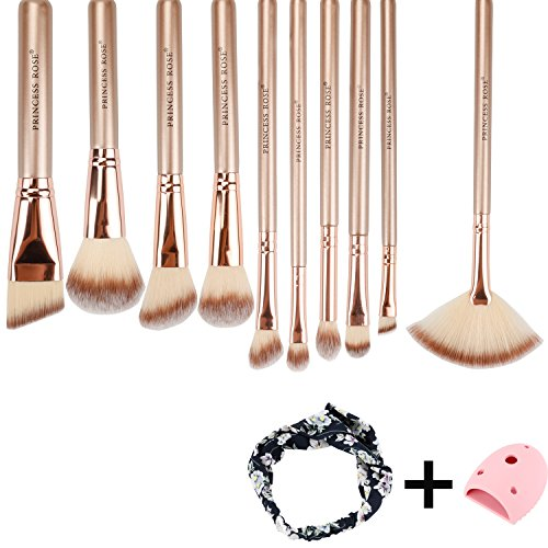 Make Up Pinsel Set, Lyeiaa 10pcs Professionelles  Prämie Synthetisches Weiche Kosmetik Schminke...