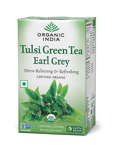Organic India Tulsi Green Tea Earl Grey - 18 Tea Bags  available at amazon for Rs.140
