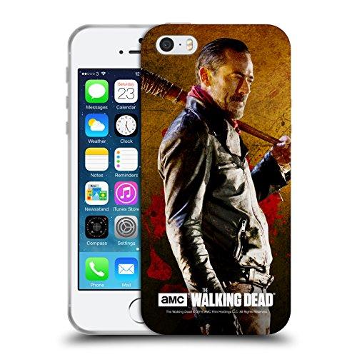 Officiel AMC The Walking Dead Lucille 1 Negan Étui Coque en Gel molle pour Apple iPhone 5 / 5s / SE