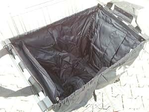 Chariot de courses pliable noire Sac à dos avec compartiment isotherme intégré et compartiment et bouteille, 33x 52x 39cm