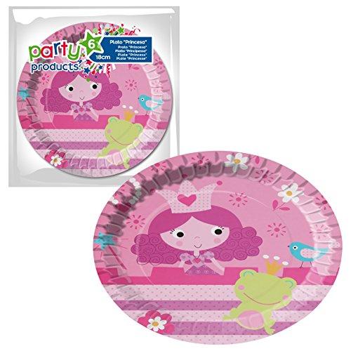 Party- Pack 6 platos cartón, Princesas (68233)