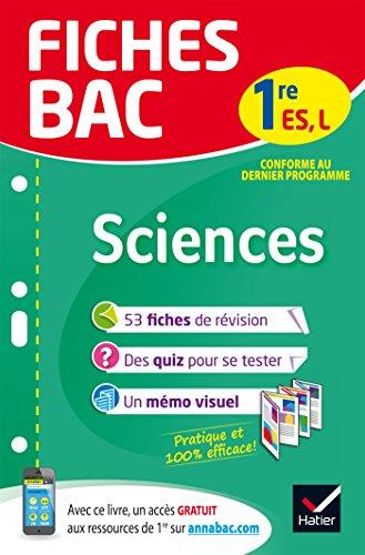 Fiches bac Sciences 1re ES, L: fiches de révision Première ES, L par Isabelle Bednarek-Maitrepierre