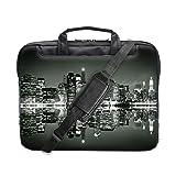 """TaylorHe 15"""" 15,6"""" Borsa per notebook borsa a tracolla per PC portatili Laptop Case con manici e tracolla tasche per accessori città di notte"""