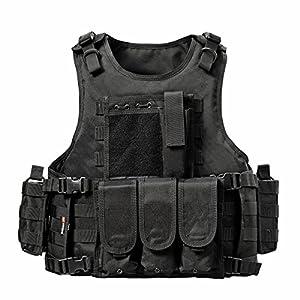 YAKEDA Ventilateurs Ventilateurs Armée tactique Vest Cs Champ Swat Tactical Army Vest Vest extérieure Cs Jeu Vest cosplay de Counter Strike Jeu Vest-322