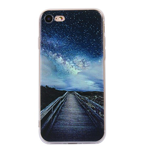 iphone 8 Handyhülle,iphone 8 Silikon Hülle,Cozy Hut 3D Handyhülle Muster Case Cover Für iphone 8 Liquid Crystal Ultra Dünn Crystal Clear Transparent Handyhülle Soft Cover Premium Anti-Scratch TPU Durc Sterne