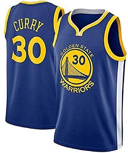 MTBD Basketballtrikot für Herren - NBA Warriors Golden State #30 Stephen Curry Basketball-Netztrikot,T-Shirt Unisexe Sportswear