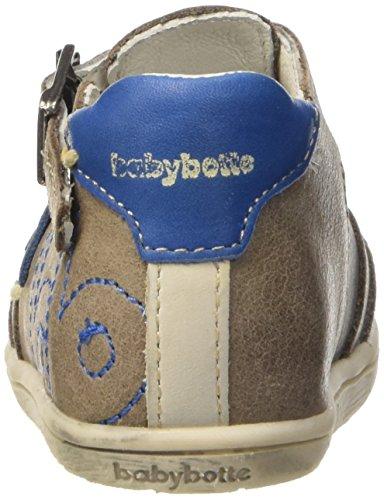 babybotte Paintball Baby Jungen Lauflernschuhe Braun - Marron (064 Taupe/Bleu)