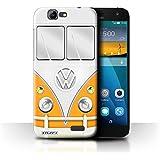 Carcasa/Funda STUFF4 dura para el Huawei Ascend G7 / serie: Vw autocaravana - Naranja