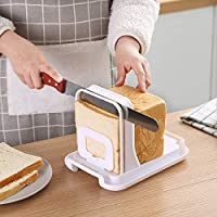 Cortador de pan, cortador de tostadas ajustable, guía de corte plegable para pan tostado, rebanador de pan tostado, rebanador de pan y pan tostado con 3 grosores
