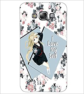 PrintDhaba Girl with Attitude D-1032 Back Case Cover for SAMSUNG GALAXY A7 (Multi-Coloured)