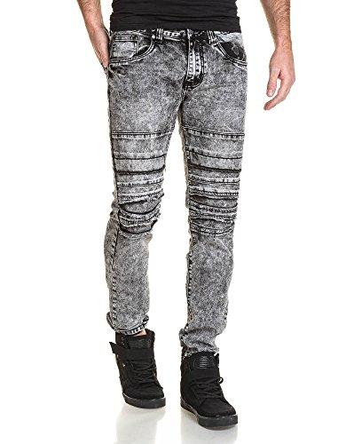 BLZ jeans - jeans homme noir déchiré délavage important Noir