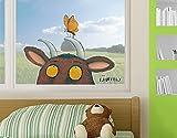 Fenstersticker Grüffelo–mit Schmetterling Fensterfolie Fenster Tattoo Glas Aufkleber Fenster Kunst Fenster Décor Fensterdekoration Fenster Bild, Maße: 16x 20–0,00