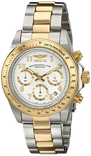 Invicta 17026 Speedway Unisex Wrist Watch Stainless Steel Quartz White Dial