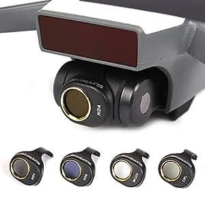 4 Packs DJI Spark Lens Filter Set Multi-Layer Coating Films MCUV CPL ND4 ND8 Camera Filters - CreaTion