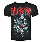 Slipknot Hombres Shattered Camiseta Large Negro