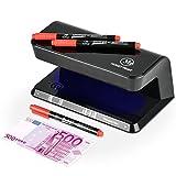 UV Geldscheinprüfer mit 3Stifte Rauchmelder Enthaltener moneytrust sind für Dokumente mit Sicherheit Eigenschaften von UV-Licht und Aufdeckung Geldscheinprüfgerät mit zwei Schritten von Prüfung