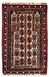 Morgenland Afghan BELUTSCH Teppich 124 x 71 cm Beige Handgeknüpft Orientalisch