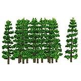 20 Stk. Plastik Tannen Bäume Modell Bahn Landschaft Ho 1: 100