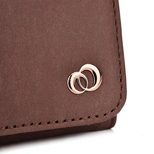 Kroo Pochette en cuir véritable pour téléphone portable pour Blu Studio 5.3S, HTC Desire 816/Desire 820 Violet - violet Marron - peau