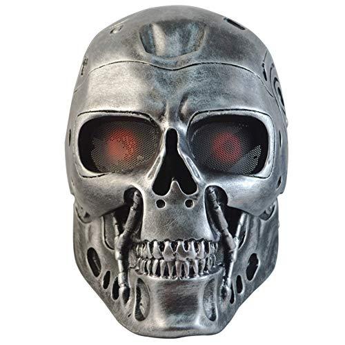 GPAN Terminator Helm Masken Halloween COS Masken Geister Creepy Maske Masquerade Schädel Party Cosplay - Terminator Kostüm Männer