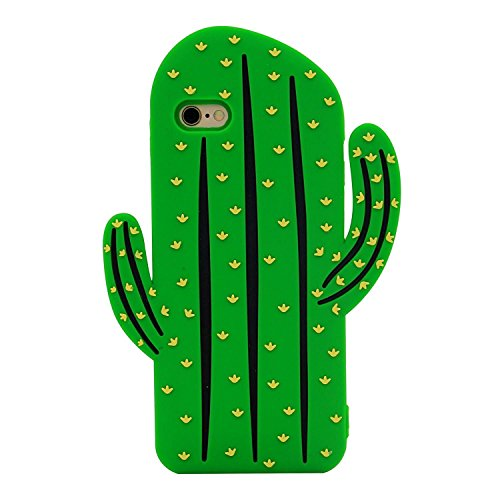 WARRAH iPhone 6 6S Case,3D Cute Lovely Cartoon Series Silicone Soft Case Cover for iPhone 6 6S (Boys Tears Bottles) Cactus