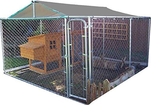 FeelGoodUK Cage en Acier galvanisé 3 x 3 x 1,8 m