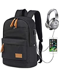 1f94daf8de749 Myhozee Wasserdicht Laptop Rucksack Schulrucksack Backpack mit USB  Anschluss