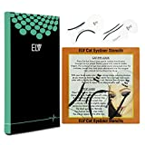 ELV Cat Smokey Eyes Makeup Eyeliner Stencils Repeatable Reusable DIY Eye Makeup Card Template Tools Kit (2 Pieces)