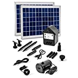 20 Watt Solar Pumpe mit Akku und LED Springbrunnen NASP3Z Solarpumpe Teichpumpe 20W