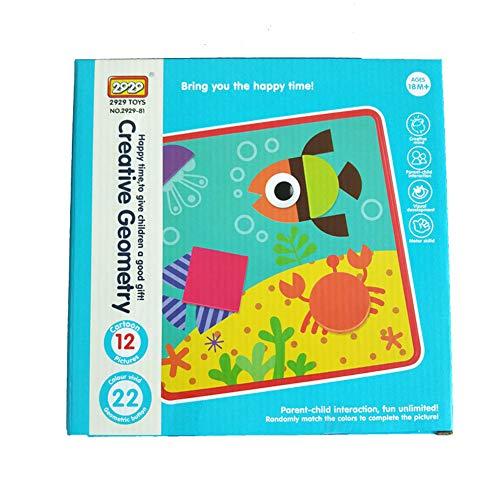 3D Puzzle Spielzeug, für Kinder Mosaik Pilz Nagel Kit Tasten Kunst Montage Kinder Aufklärung Lernspielzeug English geometric Montage-taste